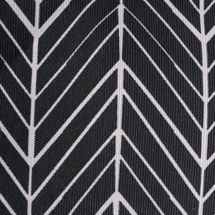 Polyester Bin Herringbone Black Square 13x13x13
