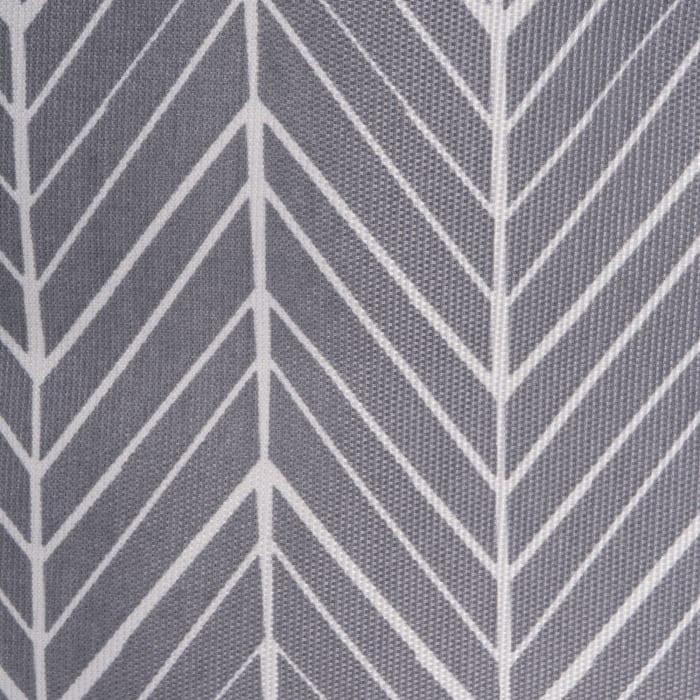 Polyester Bin Herringbone Gray Square 13x13x13