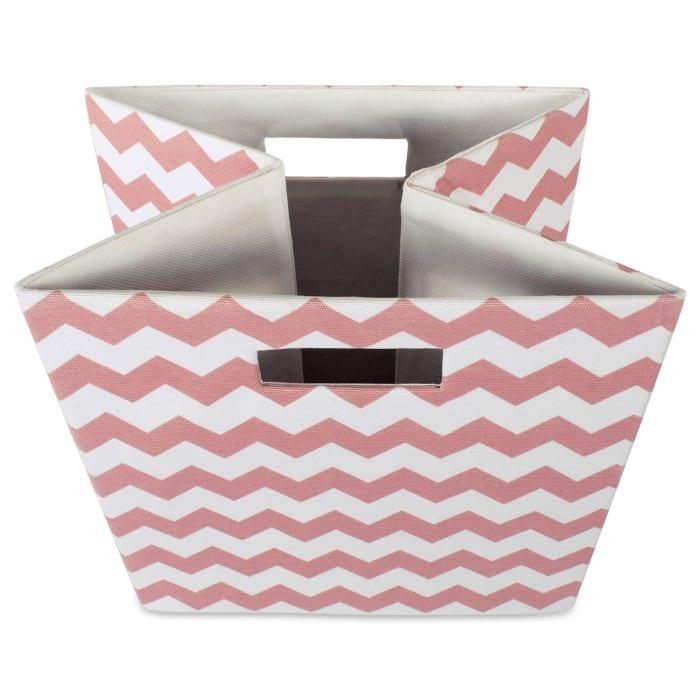 Polyester Cube Chevron Rose Square 13x13x13
