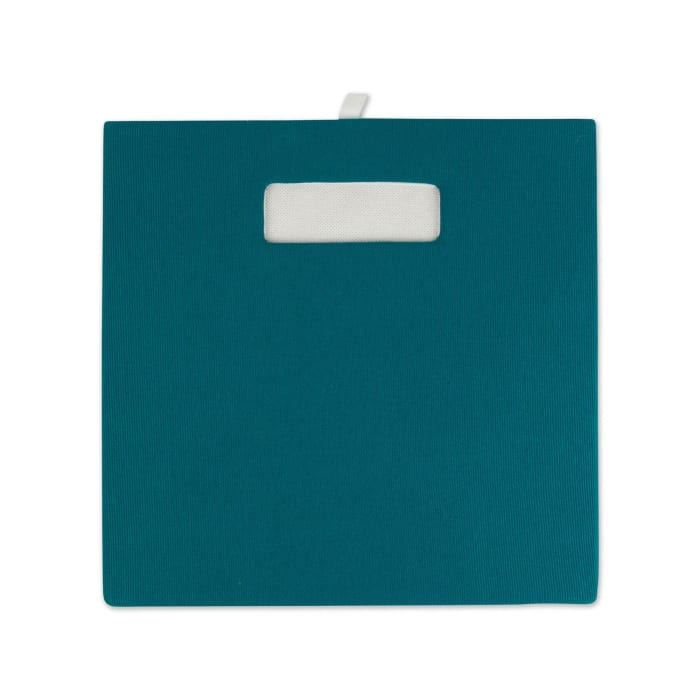 Polyester Cube Solid Teal Square 13x13x13
