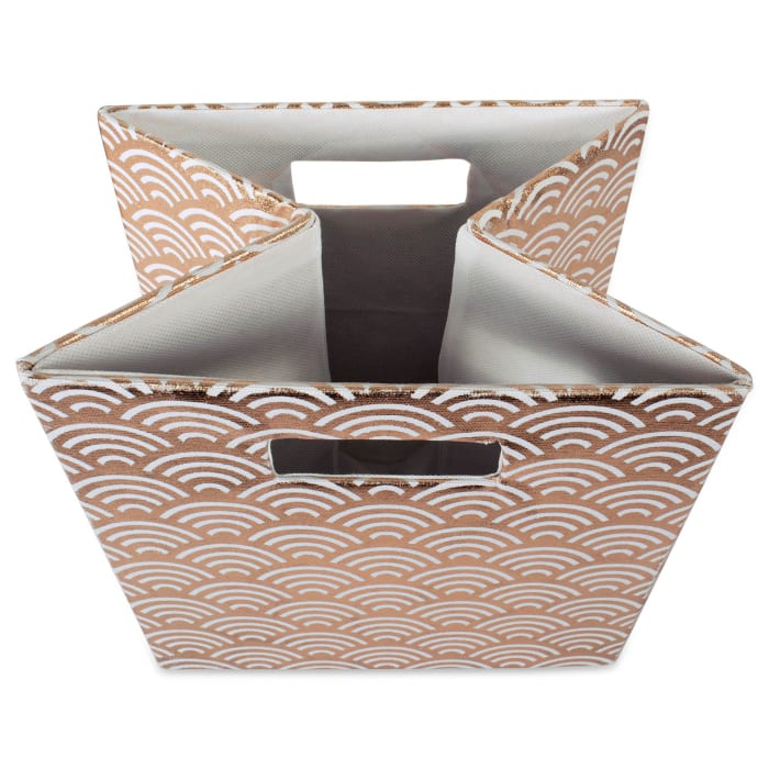 Polyester Cube Waves Copper Square 13x13x13