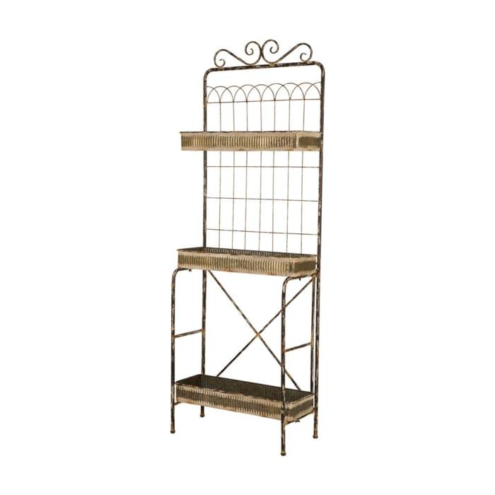 Farmhouse Metal Planter Stand