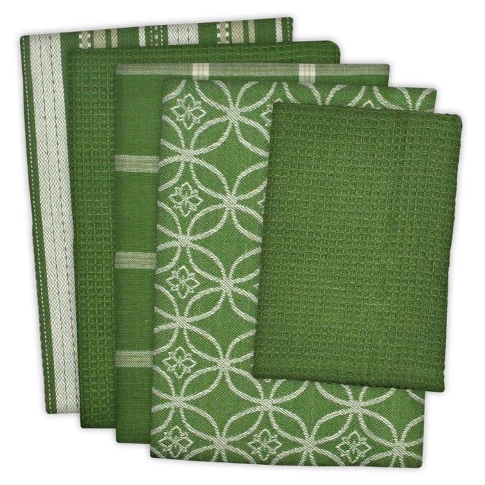 Green Assorted Dishtowel & Dishcloth Set
