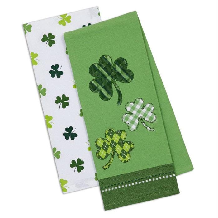 St. Patrick's Day Plaid Irish Luck Tea Towel Set