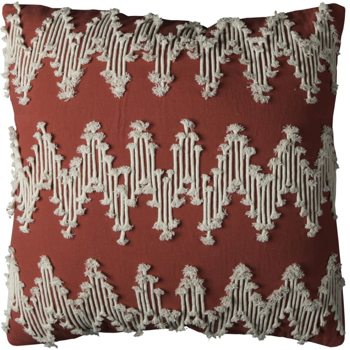 Textured Chevron Red Pillow Cover