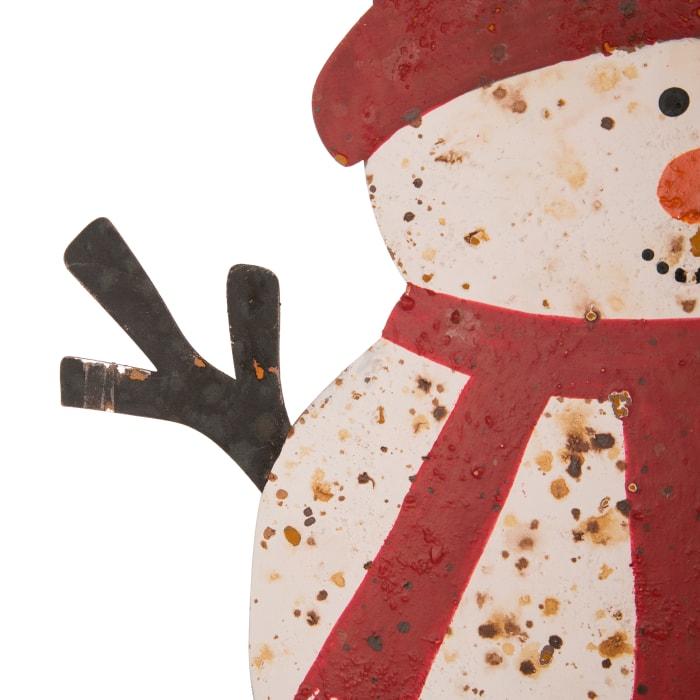 Rustic Snowman Family Yard Stake