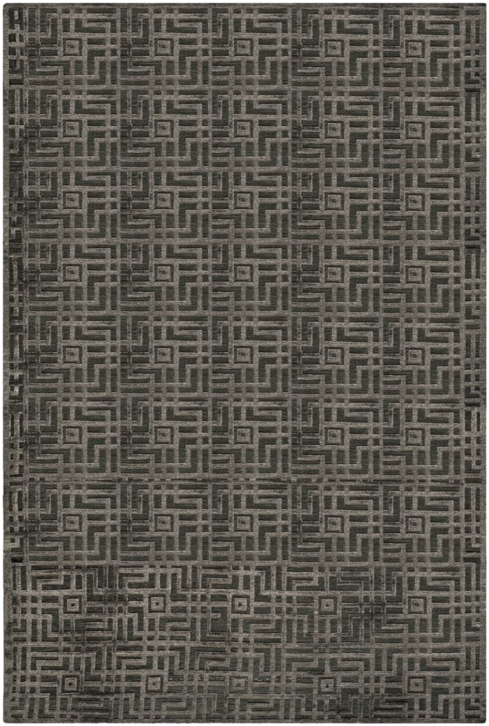 Charcoal Hand-Knotted Rug 8' x 10'