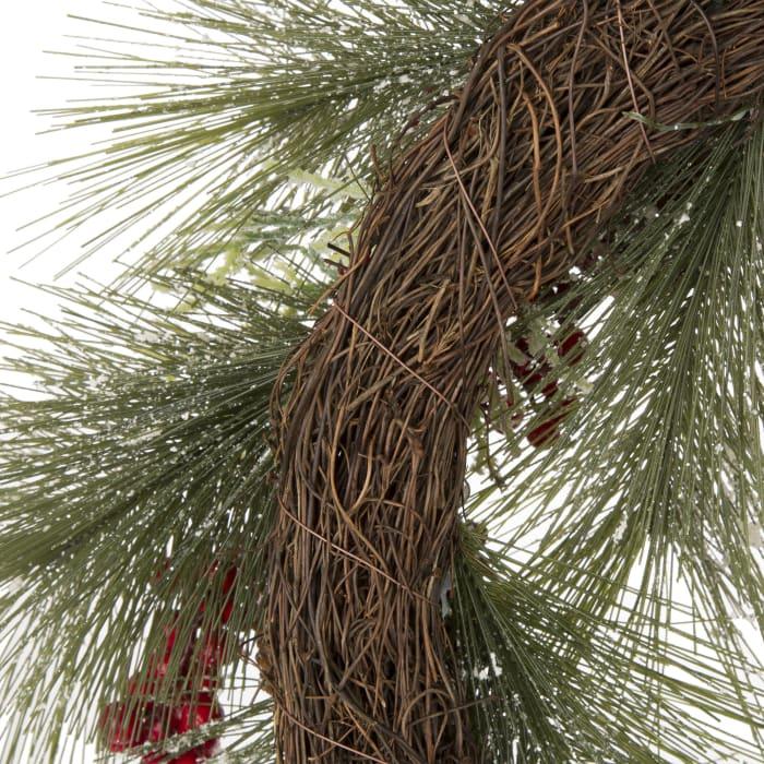 Flocked Pinecone & Berry Wreath