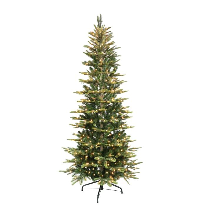 7.5' Pre-Lit Slim Aspen Fir Artificial Christmas Tree