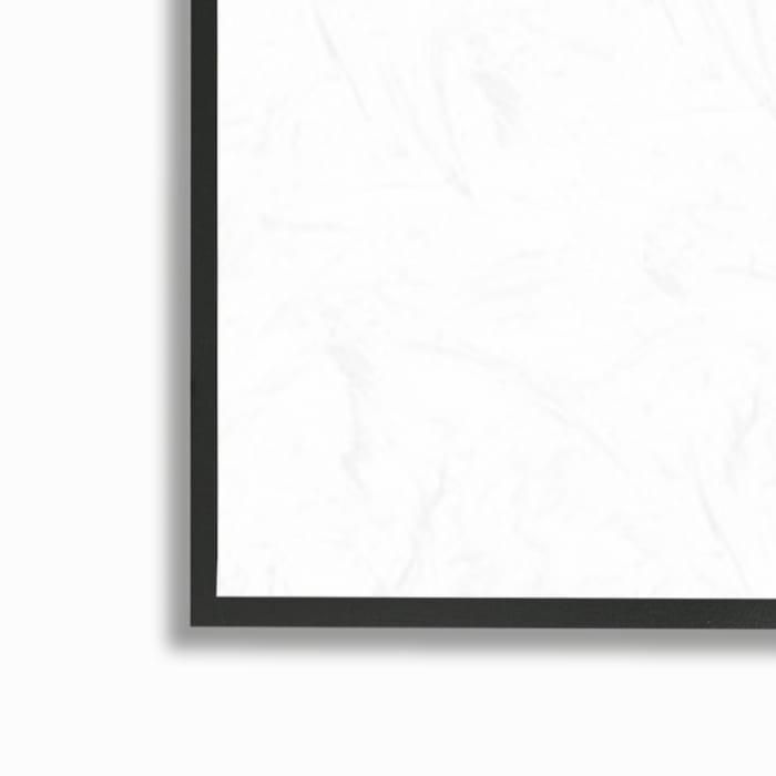 Vintage Sepia Palm Tree Geometric Pattern Black Framed Giclee Texturized Art