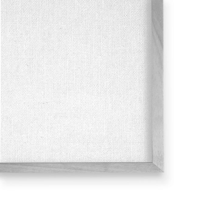White Poppy Illustration Vintage Flower Thorns Gray Framed Giclee Texturized Art by Daphne Polselli 11 x 14