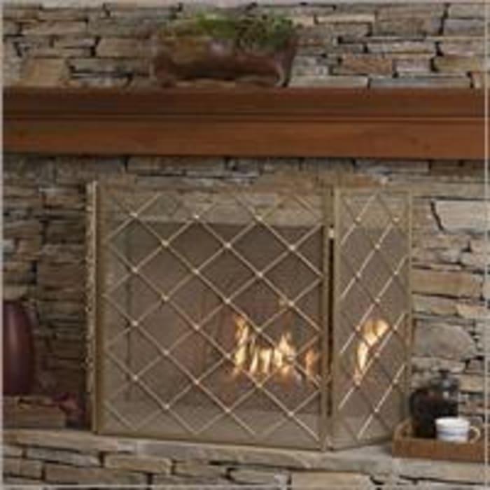 Fireplace Screen Gold