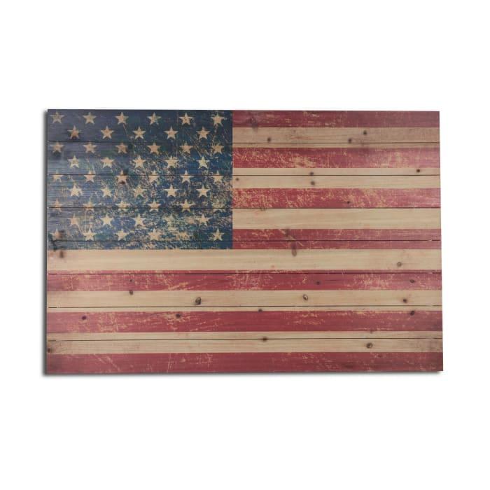 American Flag Wooden Wall Art
