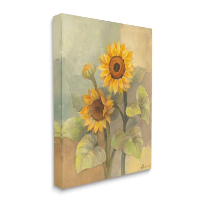 Sunflower Bloom Soft Yellow Summer Petals Super Oversized Stretched Canvas Wall Art by Albena Hristova 36 x 48