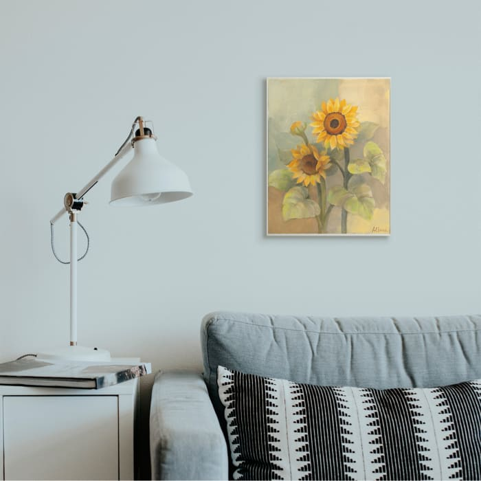 Sunflower Bloom Soft Yellow Summer Petals Oversized Wall Plaque Art by Albena Hristova 13 x 19