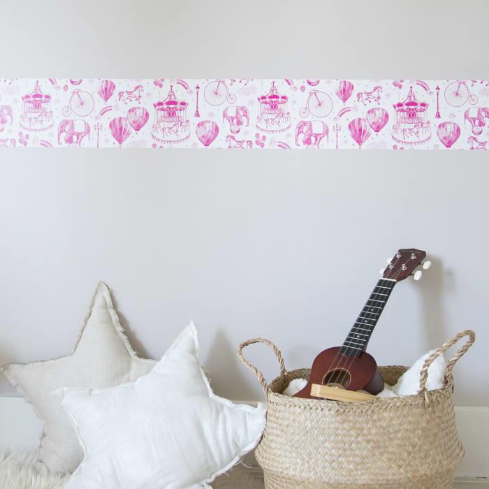 Carnival Bubble Gum Self-Adhesive Removable Wallpaper
