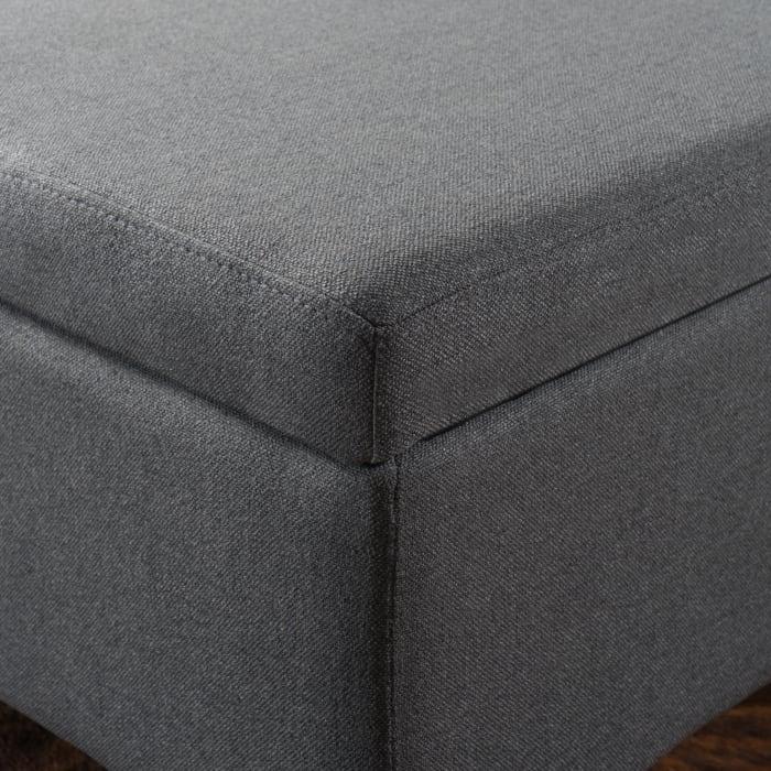 Dark Gray Storage Ottoman