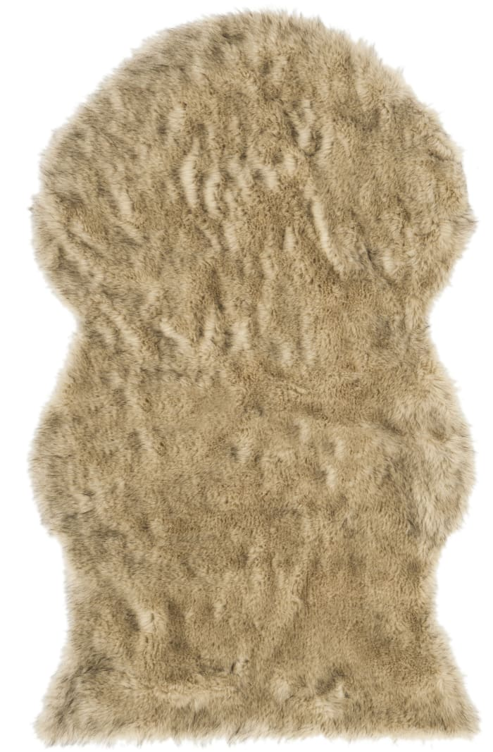 Casey Gray Faux Sheep Skin 3'x5' Rug