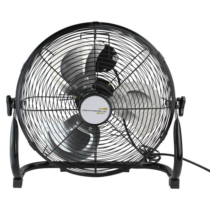 Jet Black Adjustable Tilt Portable Floor Fan