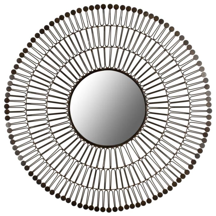 Benet Bronze Iron & Glass Mirror