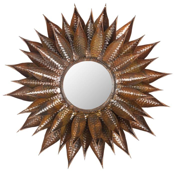 Olivia Copper Iron & Glass Mirror