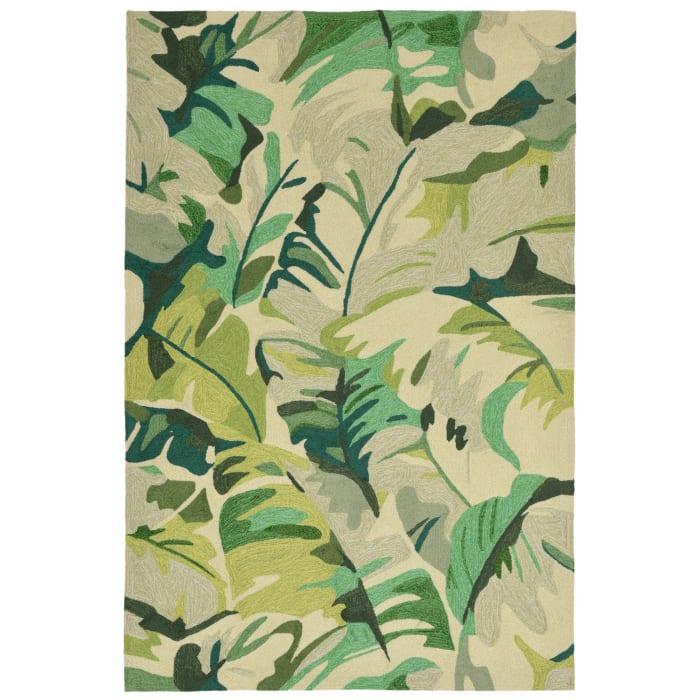 Green Palm Leaf 5' x 8' Rug