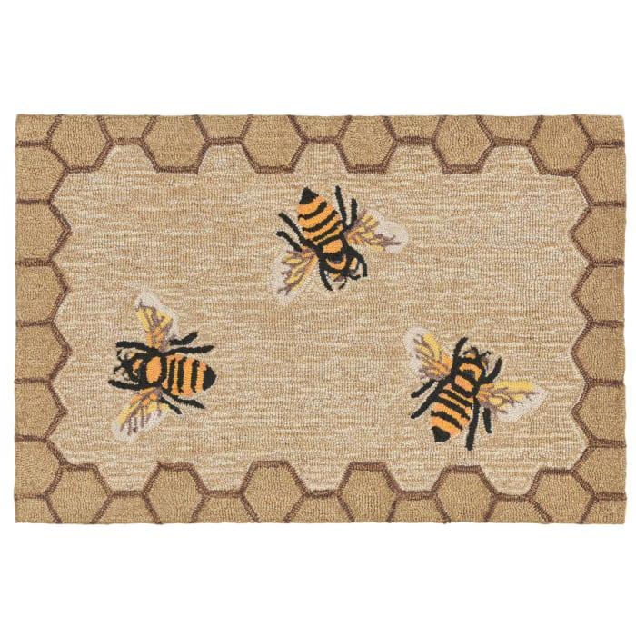 Honeycomb Bee Natural 2'x3' Rug