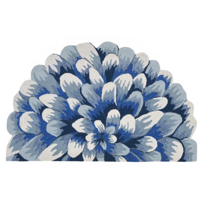 Blue Mum Demilune Rug 2'x3'
