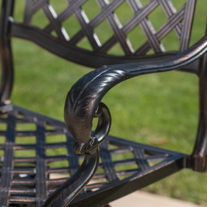 Shiny Copper Finished Cast Aluminum Bar Set