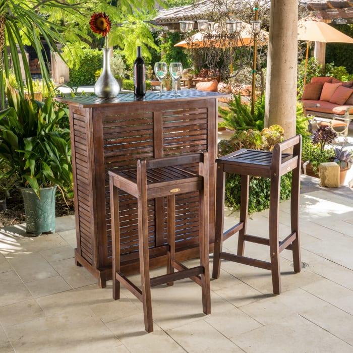 Wooden Bar 3-Piece Set