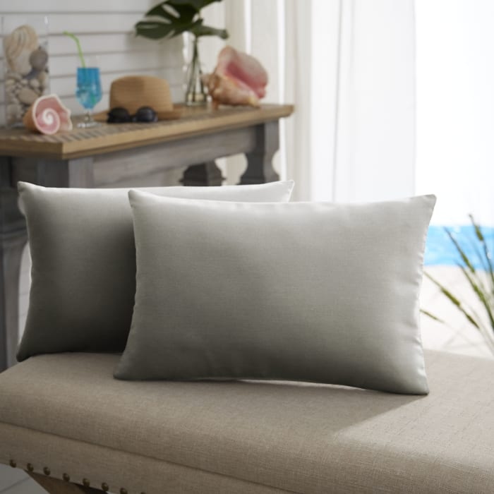 Sunbrella Knife Edge Set of 2 in Canvas Charcoal Outdoor Pillow