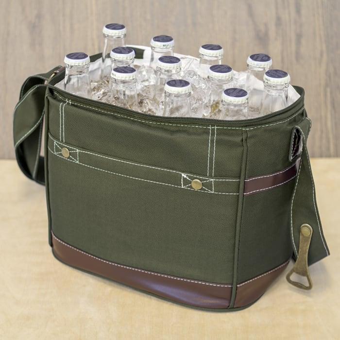 Green Craft Beer 12-Pack Bottle Cooler