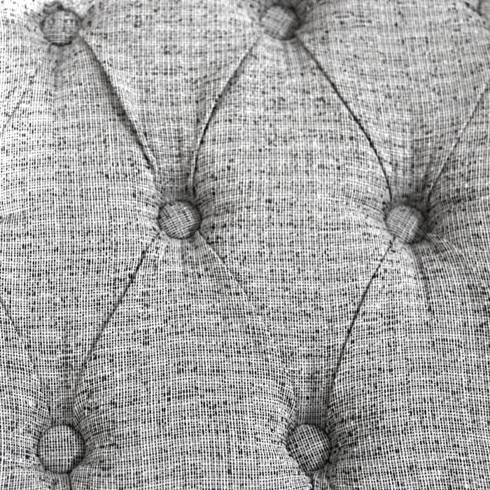 Natural Tweed Tufted Storage Ottoman