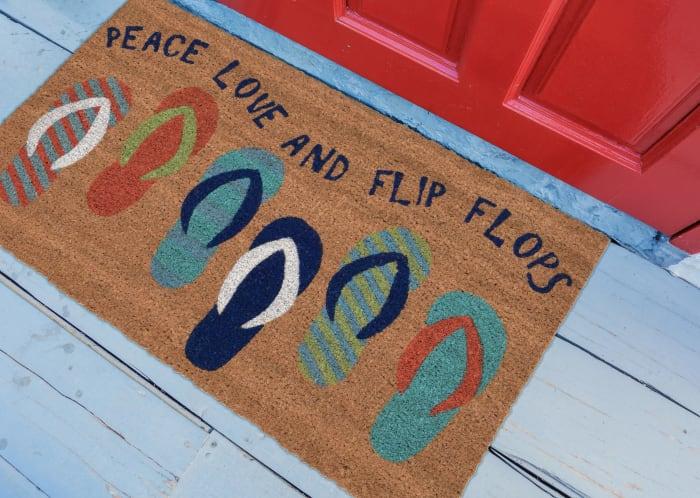 Flip Flops Blue Doormat 18