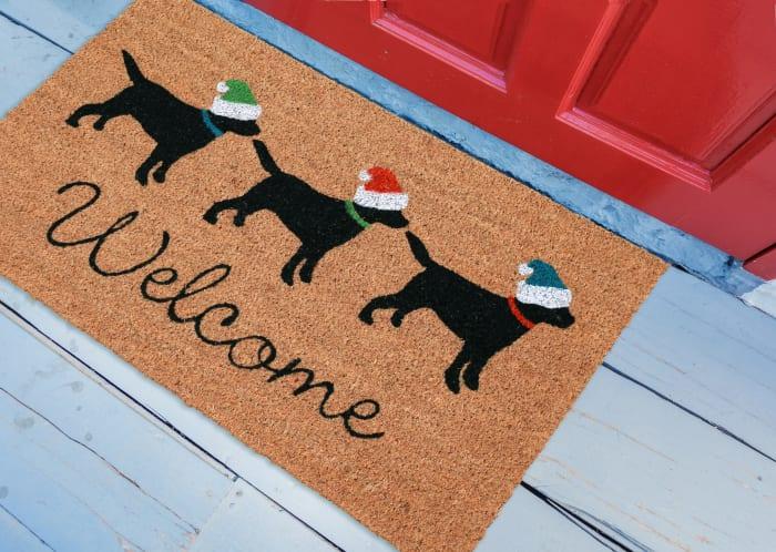 Three Dogs Welcome Doormat 18