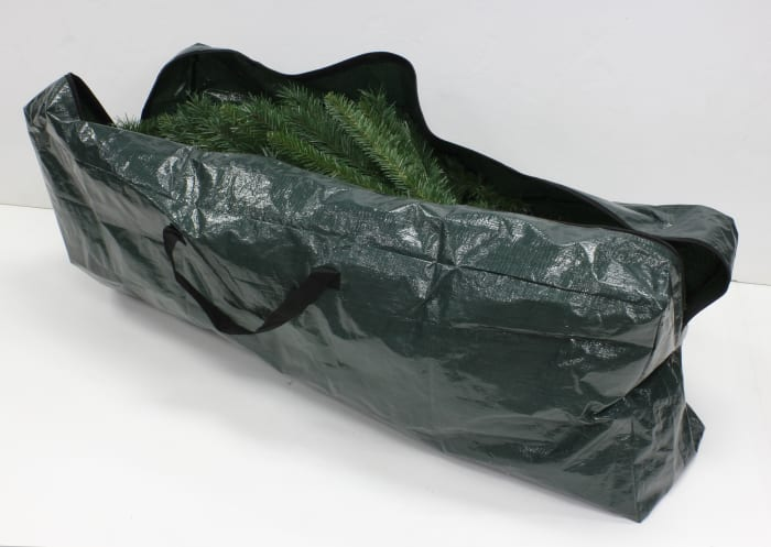 Green Christmas Tree Storage Bag