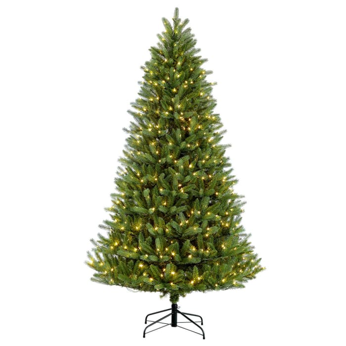 6.5' Pre-Lit Glacier Fir Artificial Christmas Tree