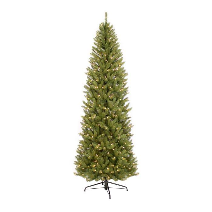 7.5' Pre-Lit Pencil  Fraser Fir Artificial Christmas Tree