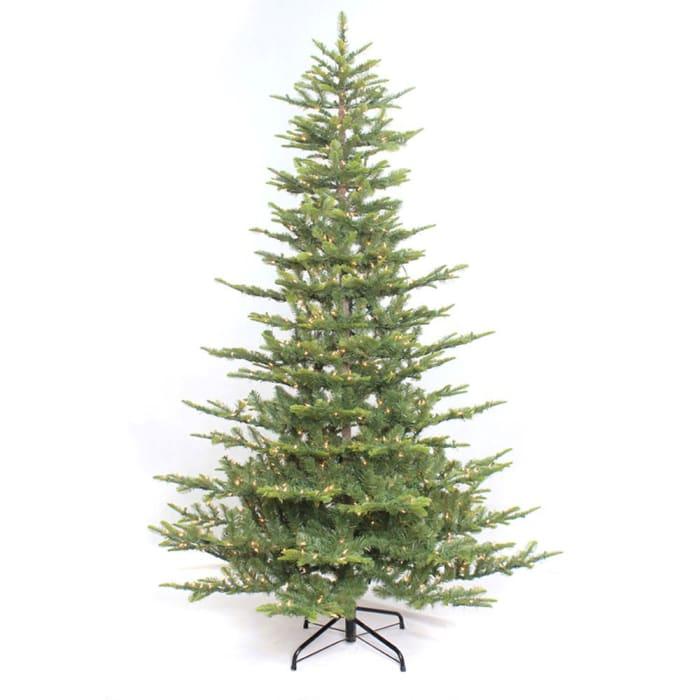 Gregory 6.5' Green Aspen Green Fir Pre-Lit Christmas Tree