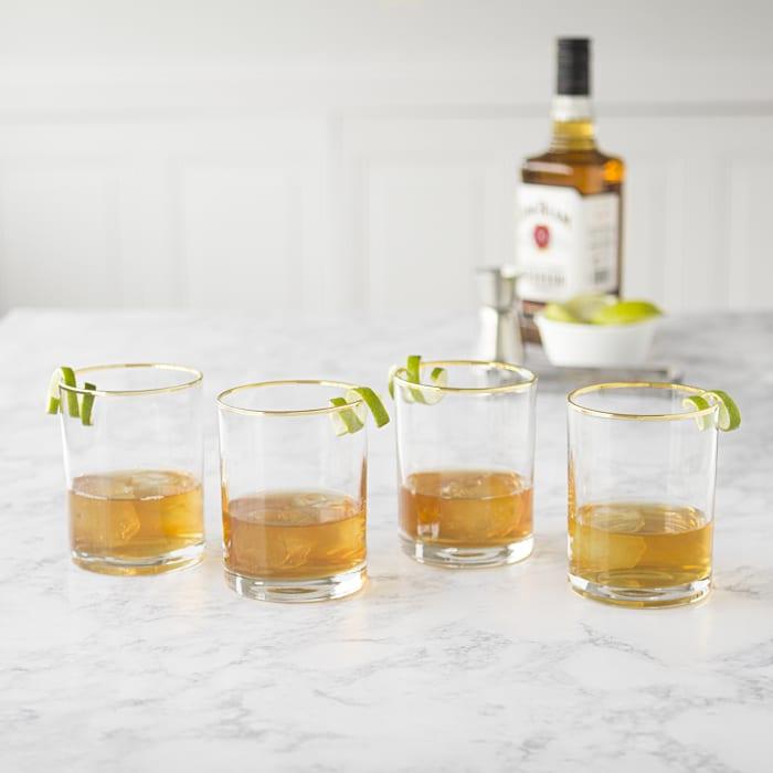 Gold Rim Whiskey Glasses