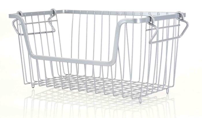 Small Gray Steel Wire Storage Basket