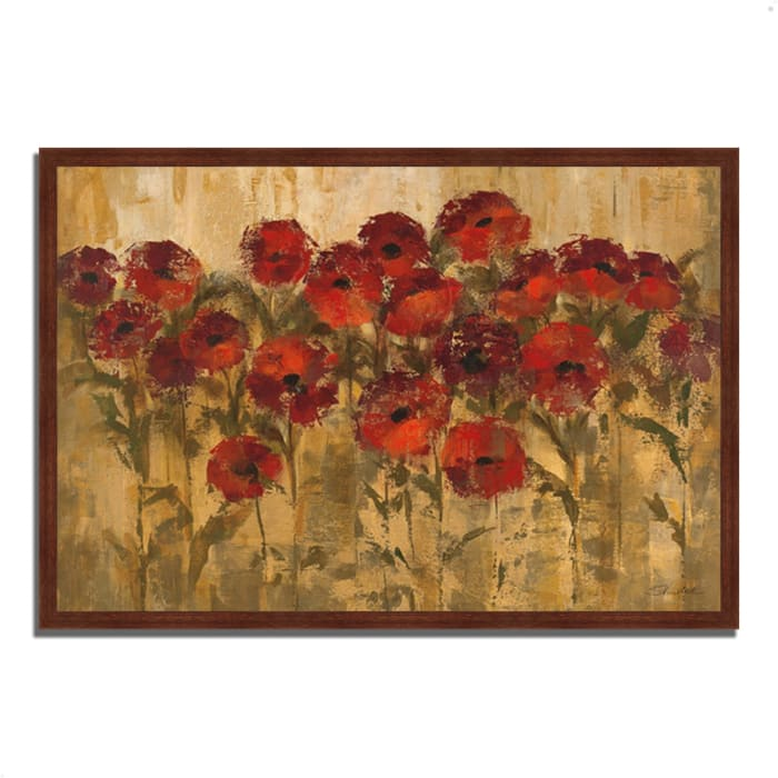 Framed Painting Print 47 In. x 32 In. Sunshine Florals by Silvia Vassileva Multi Color