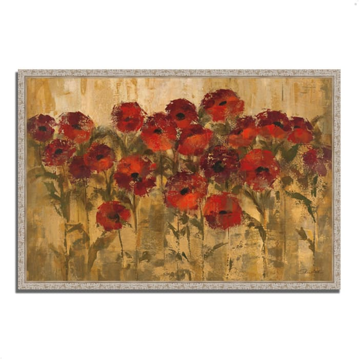 Fine Art Giclee Print on Gallery Wrap Canvas 32 In. x 22 In. Sunshine Florals by Silvia Vassileva Multi Color