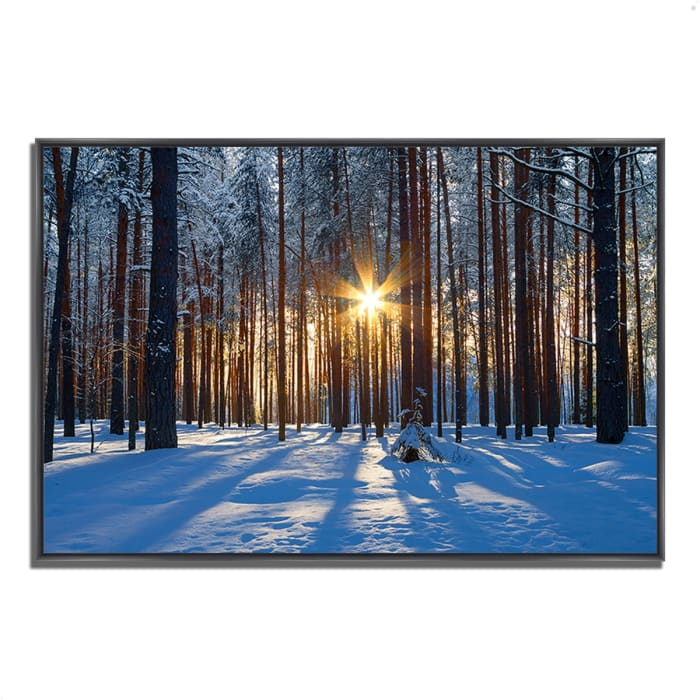 Fine Art Giclee Print on Gallery Wrap Canvas 38 In. x 26 In. Sunset Starburst Multi Color