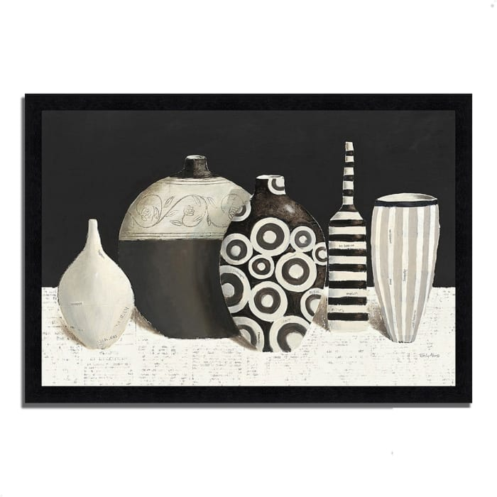 Framed Painting Print 46 In. x 33 In. Objet d'Art by Emily Adams Multi Color