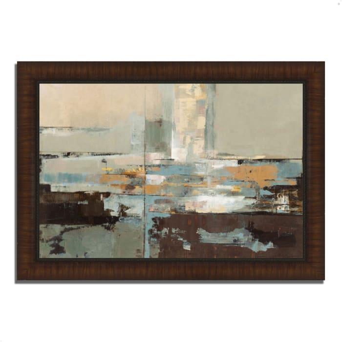 Framed Painting Print 42 In. x 30 In. Morning Haze by Silvia Vassileva Multi Color