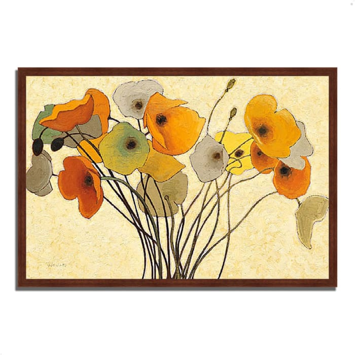 Framed Painting Print 32 In. x 22 In. Pumpkin Poppies I by Shirley Novak Multi Color
