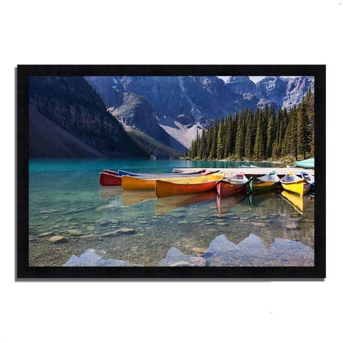 Framed Photograph Print 33 In. x 23 In. Lake Moraine Multi Color