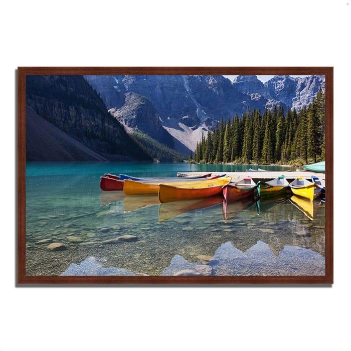 Framed Photograph Print 38 In. x 26 In. Lake Moraine Multi Color