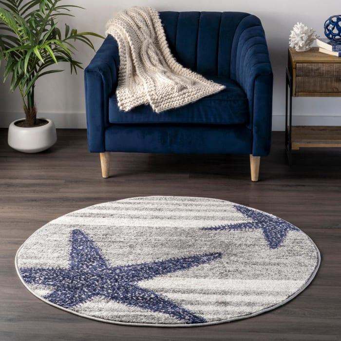 Thomas Paul Power Loomed Starfish 8' x 10' Gray Rug
